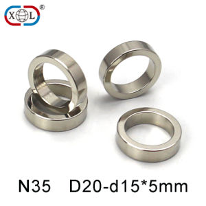 Powerful Magnetic Ring Nickel Neodymium Magnets pictures & photos