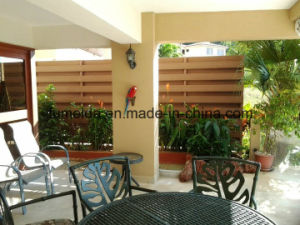 Red Brown Solid Wall Cladding WPC pictures & photos