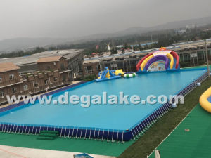 Metal Fram Inflatable Swimming Pool Water Pool for Water Park