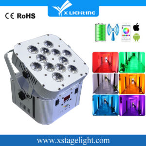 High Power 12PCS 18W 6in1 Wireless Battery Operated LED PAR Light pictures & photos