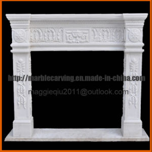 White Marble Fireplace Surrounds Mf1716 pictures & photos