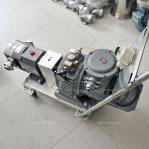 Sanitary Rotary Lobe Pump with Trolley for Chocolate Honey pictures & photos