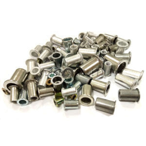 British and American System Flat Head Rivet Nut Carbon Steel/Aluminum/Stainless Steel pictures & photos