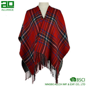 New Fashion Red Shawls Elegant Women Winter Capes pictures & photos