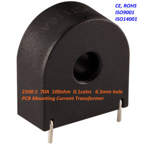 Zmct116A Mini PCB Mounting Current Transformer 2500: 1 70A 100ohm 0.1calss 6.5mm Hole pictures & photos