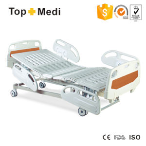 Topmedi Cheap Price Five-Function Electric Inclinable Hospital Bed (FDA SGS BV ISO) pictures & photos