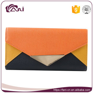 Fani Latest Candy Color PU Leather Wallet Purse Dollar Size 2017 pictures & photos