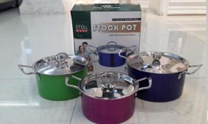 Color Painting Stainless Steel Cookware Set 10PCS pictures & photos