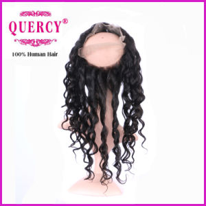Loose Wave Virgin Peruvian Human Hair Lace Frontal Top Quality 360 Lace Frontal pictures & photos