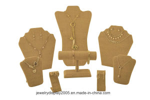8-Piece Set Burlap Jewelry Displays pictures & photos