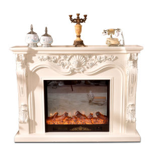 Rustic Wooden Indoor Fireplace Mantels (GSP15-004) pictures & photos