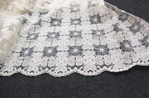 Organza Baric and Cotton Thread Embroidery Lace pictures & photos