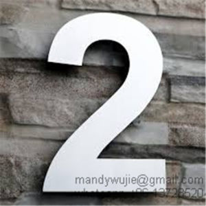 Large Modern Stainless Steel House Numbers pictures & photos