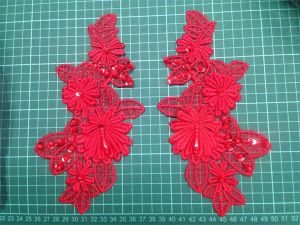 Polyester Beaded Appliques for Lady′s Dressing pictures & photos