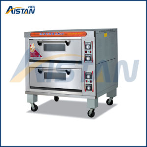 Htd-40 Stainless Steel 2 Layer -4 Trays Electric Deck Oven for Catering Machinery pictures & photos