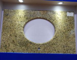 Hot Natural Stone Brazil Giallo Veneziano, Amarello Gold, Countertop Vanity Top pictures & photos