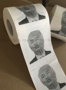 Custom Advertising Trump Tissue Toilet Roll Paper for Promotion pictures & photos