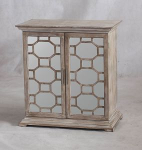 Natural Timber Finish Mirror Cabinet for Livingroom pictures & photos