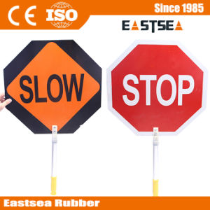 Aluminum Board Slow Stop Safety Road Traffic Sign pictures & photos