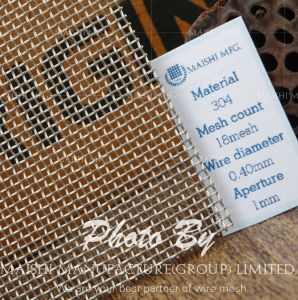 304/316 Plain Weave Stainless Steel Woven Filter Mesh pictures & photos