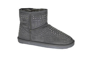 Women′s Microfiber Diamond Mini Snow Boots