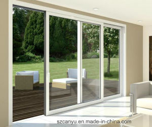 UPVC Top Hung Window with Double Window Glass Door pictures & photos