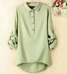 Cotton&Linen Women`S Shirt pictures & photos