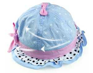 Blue Floral Baby Bucket Hat pictures & photos