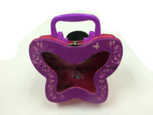 Small Butterfly Shape Tin Box with Clear Window