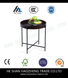 Hzct106 Sell Like Hot Cakes Mysterious Black Solid Wood Table pictures & photos