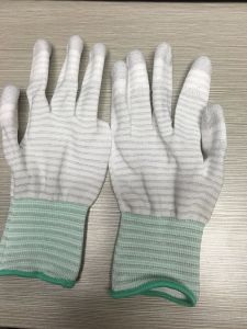PU Palm Coated Nylon Gloves for Cleanroom Working pictures & photos