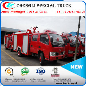 Dongfeng 4X2 LHD 3000liters Water-Foam Tank Fire Truck pictures & photos
