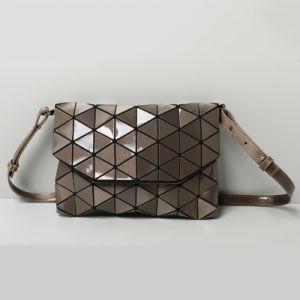 Gun Color PU Rhombic Geometry PU Shoulder Bag (A0109-6) pictures & photos