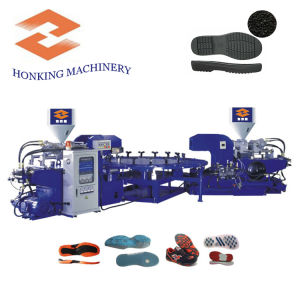 Two Color Shoe Making Machine for PVC pictures & photos