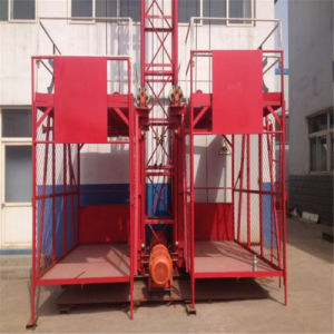 Ss100/100 1ton Double Cage Construction Material Hoist pictures & photos