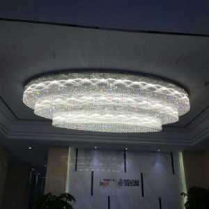 Round Big Size White Crystal ceiling Lamp for Hotel pictures & photos