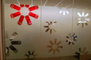 Custom Design Vinyl Film Frosted Glass Graphics for Conference Room Windows pictures & photos
