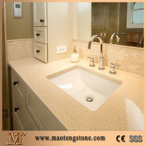 Beige Sparkling Quartz Engineering Quartz Stone Wholesale Price pictures & photos