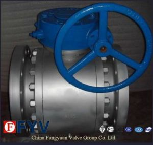 Cast Steel Trunnion Mounted Ball Valve with Gear pictures & photos