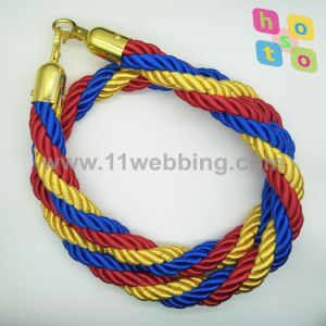 Polyester Colors Mixed Twisted Rope for Crowd Control Stanchion pictures & photos