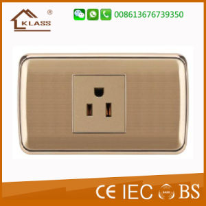 Cheap Price Gold Color Electrical 3pole Socket pictures & photos