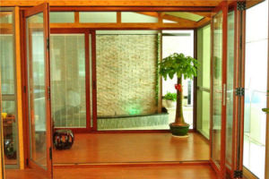 Four Panel Double Glazing Aluminum Folding Door, Glass Interior Door pictures & photos