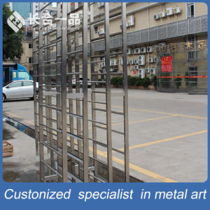 Whole Sale Stainless Steel Standing Wine Display Shelf for Retailstore/Restaurant pictures & photos
