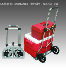 Foldable Chrome-Plated Steel Hand Truck (HT022AC-1) pictures & photos