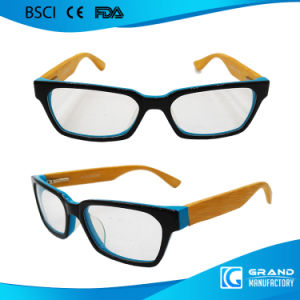 Conduction Glasses Fake Designer Bamboo Temple Square Reading Glasses pictures & photos