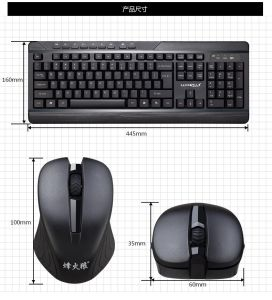 2017 New Coming 2.4GHz Wireless Computer Keyboard and Mouse Suit (KB-8200) pictures & photos