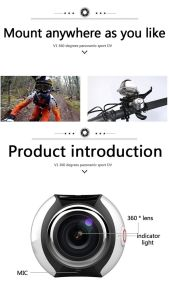 WiFi Mini 360 Action Camera Panorama Sport Driving Vr Camera pictures & photos