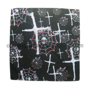 Unisex Paisley Print Soft Printed Skull Square Custom Bandana pictures & photos