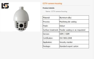 Ls4-1 Die Casting Infared CCTV Camera Housing Acctv Camera Metal Parts pictures & photos