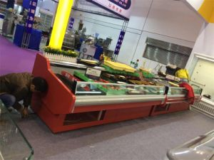Fish Meat Display Chiller Serveover Counter for Meat Shop pictures & photos